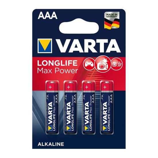 Longlife Max Power AAA Batterijen (Varta)