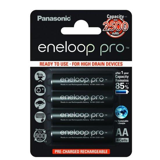 Eneloop Pro AA Batterijen (Panasonic)